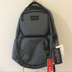 Jansport Nova Gray Herringbone Backpack